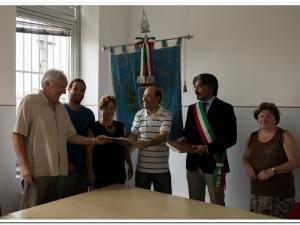Il Calandario dei paesi bisiachi vola in Uruguay: consegna alla famiglia Pecorari ospite a Fogliano Redipuglia